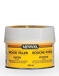 Minwax® High Performance Wood Filler.