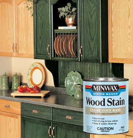how to get black water stains out of wood